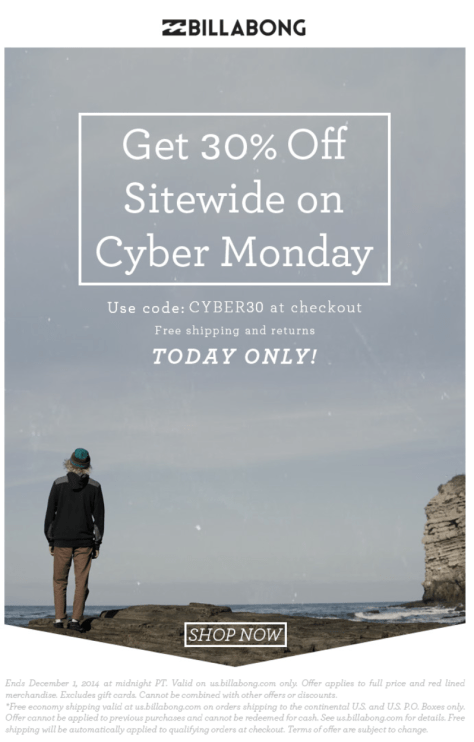 Billabong Cyber Monday Ad - Page 1