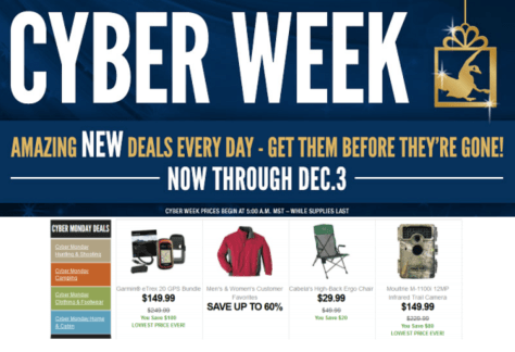 Cabelas Cyber Monday Ad - Page 1