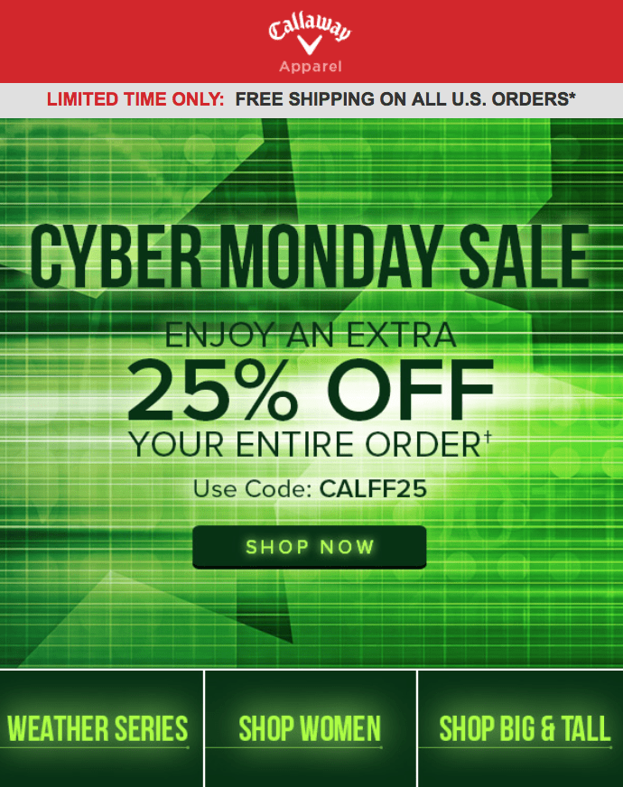 callaway cyber monday 2016 deals golf apparel sale cyber monday 2016. Black Bedroom Furniture Sets. Home Design Ideas