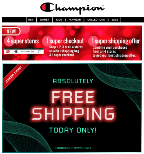 Champion Cyber Monday Ad - Page 1