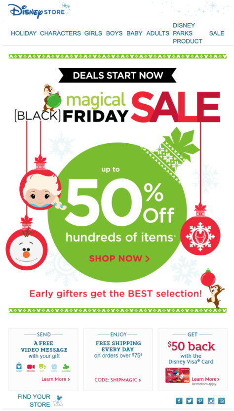Disney Store Black Friday 2015 Ad - Page 1