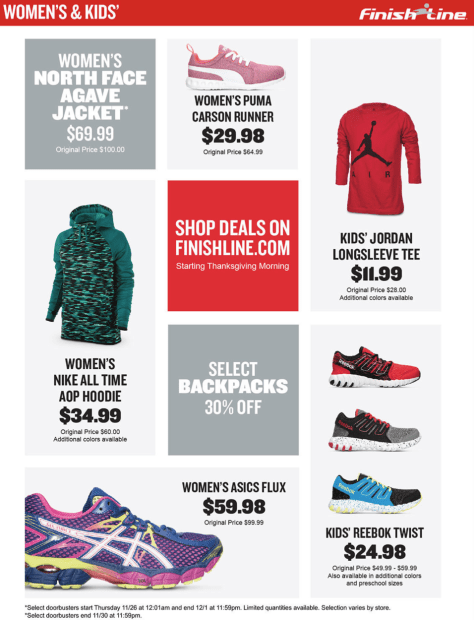 Finish Line Cyber Monday 2015 Ad - Page 3