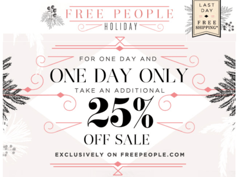Free People Cyber Monday Ad - Page 1