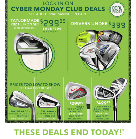 Golfsmith Cyber Monday 2015 Ad - Page 2