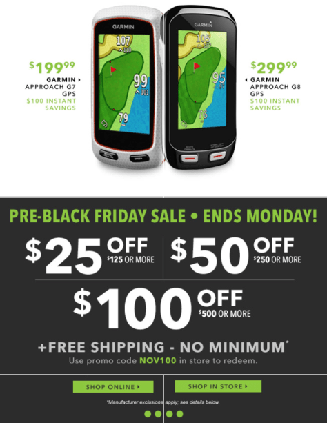 Golfsmith Pre Black Friday 2015 Ad - Page 2