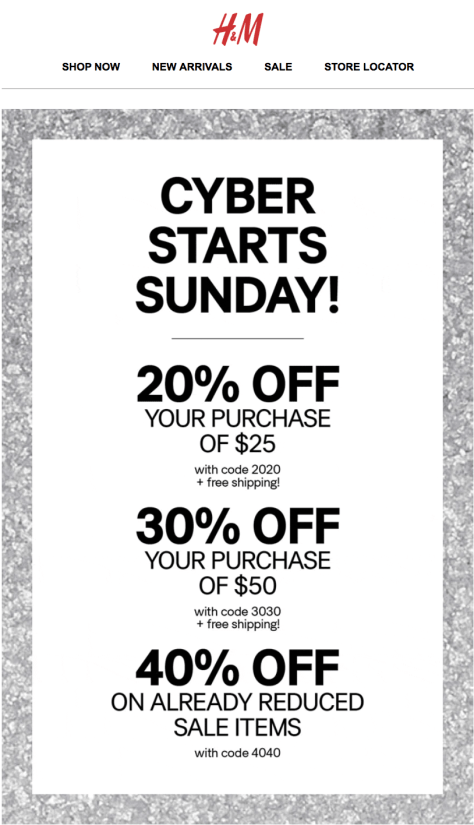 H and M Cyber Monday 2015 Ad - Page 1