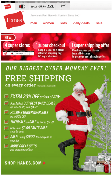 Hanes Cyber Monday Ad - Page 1