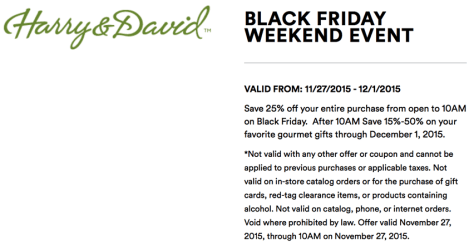 Harry and David Black Friday 2015 Flyer - Page 3