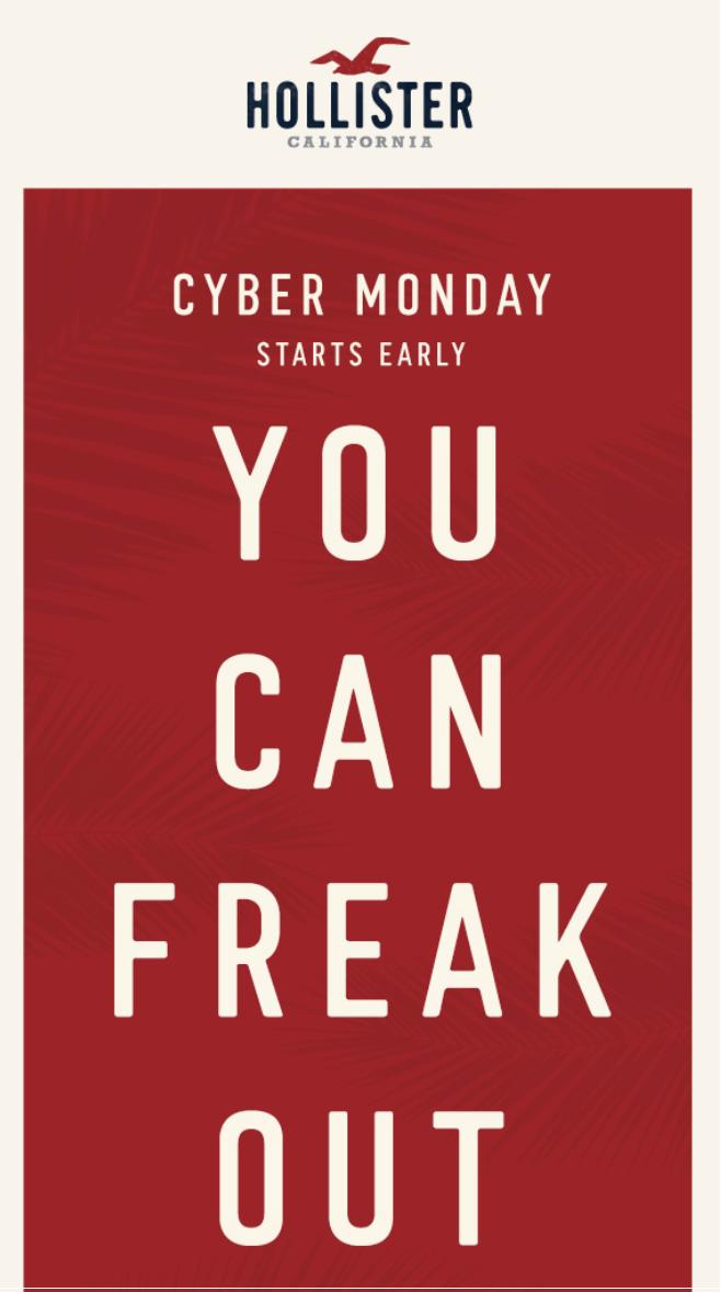 cyber monday deals hollister co