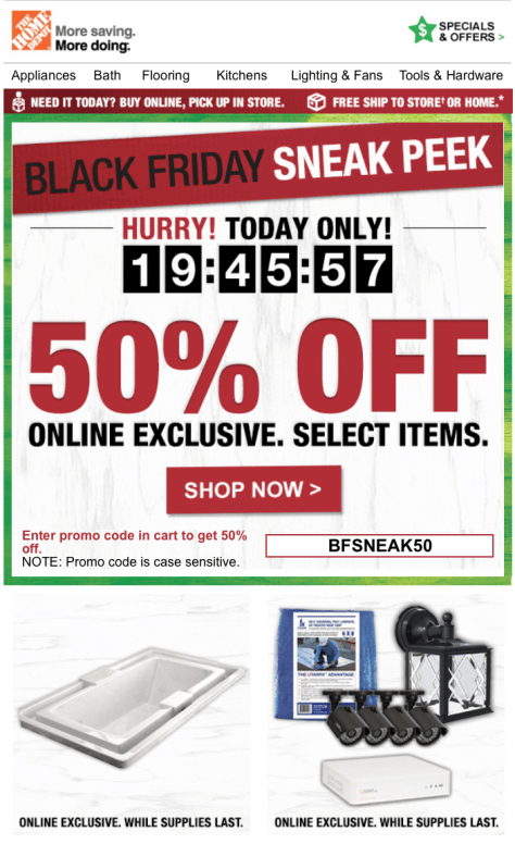 Home Depot Black Friday 2015 Sneak Peak Ad - Page 1
