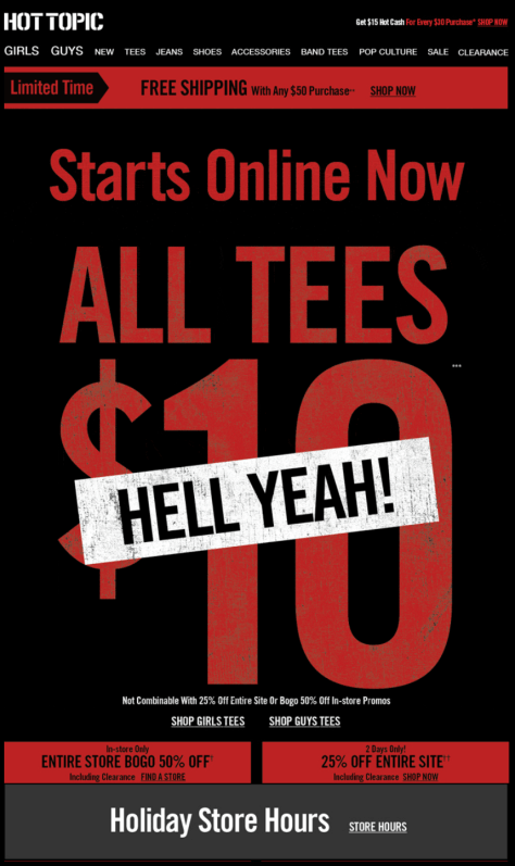 Hot Topic Black Friday Ad - Page 1