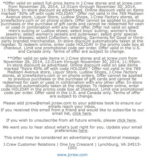 J Crew Black Friday Ad - Page 2