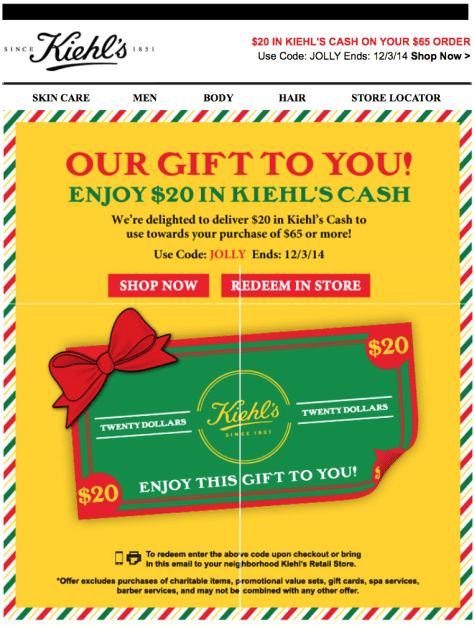 Kiehls Cyber Monday Ad - Page 1