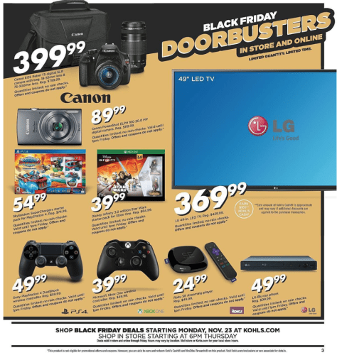 Kohls Black Friday 2015 Ad - Page 3