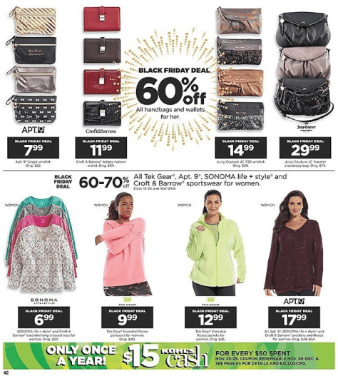 Kohls Black Friday 2015 Ad - Page 42
