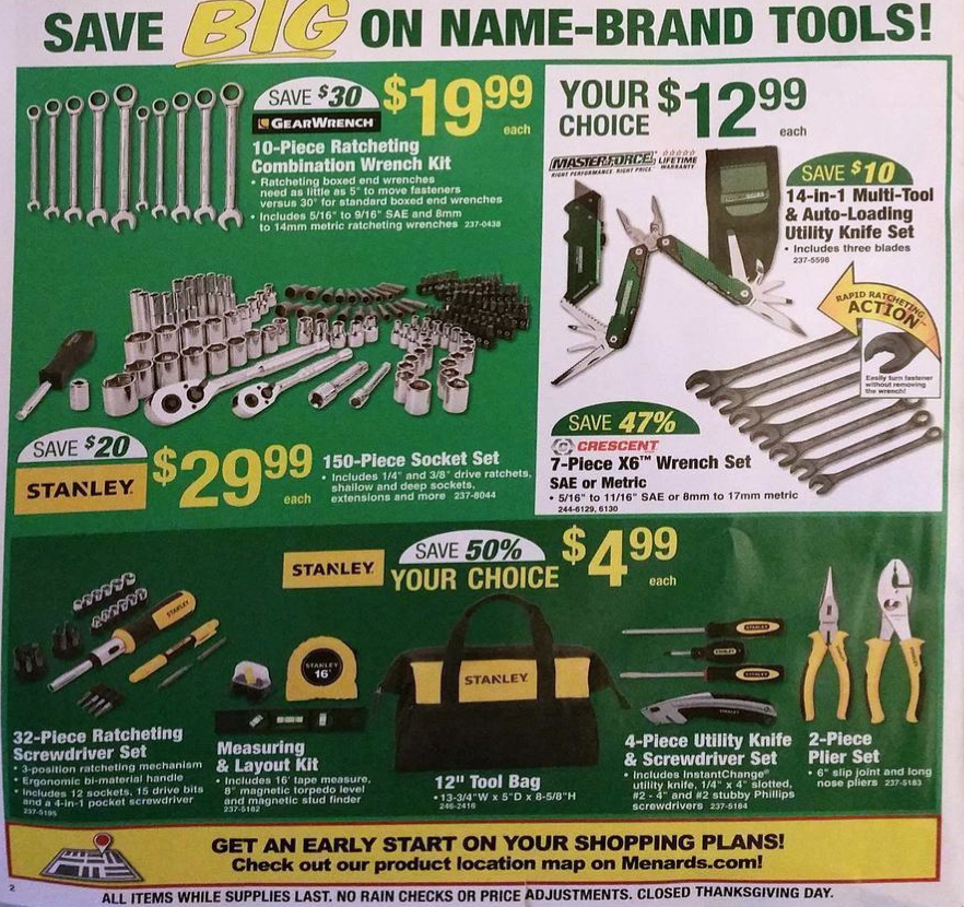 Follow the page links at the bottom of the page to view the rest of the  Black Friday ad scan from Menards. You can also go back to page 1 for more  ...