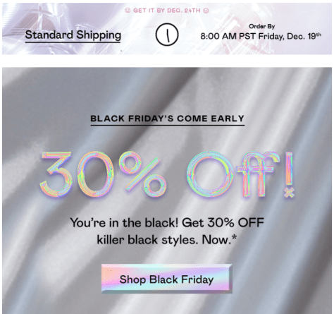 Nasty Gal Black Friday Ad - Page 1