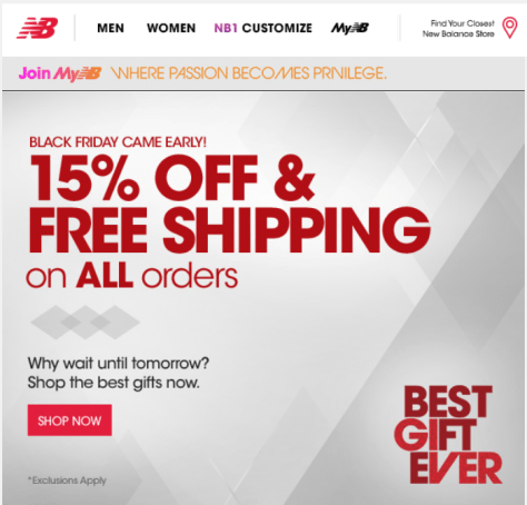 New Balance Black Friday 2015 Flyer - Page 1