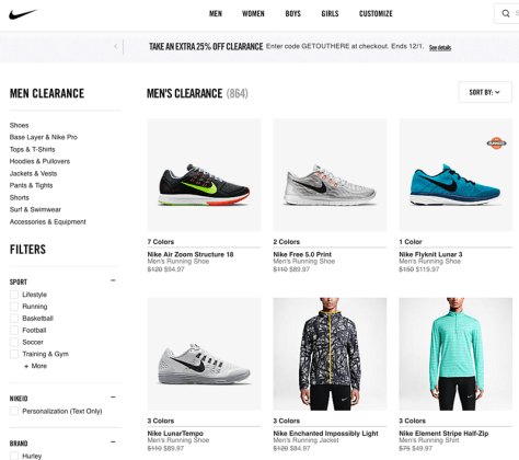 Nike Cyber Monday 2015 Ad - Page 1