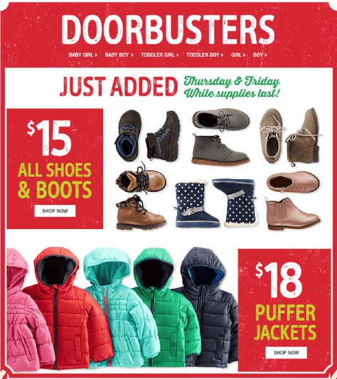 Osh Kosh Bgosh Black Friday 2015 Flyer - Page 2