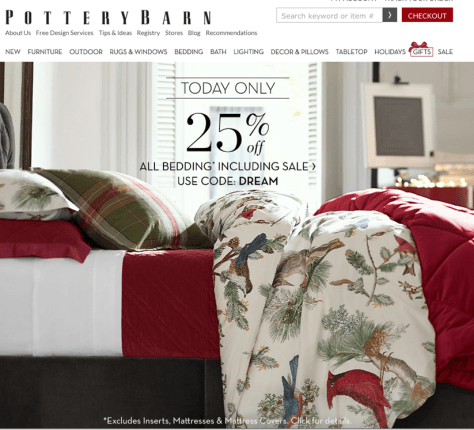 Pottery Barn Black Friday 2015 Ad - Page 1