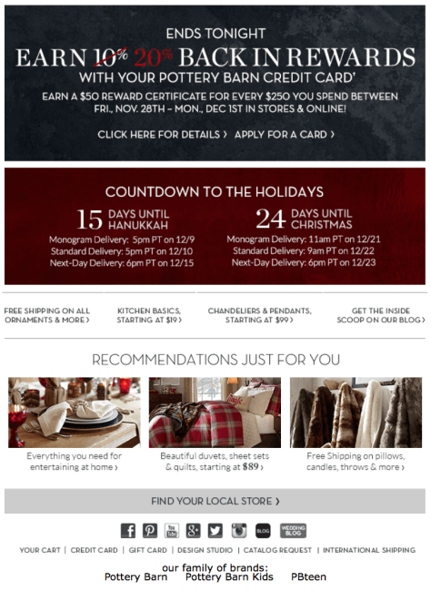 Pottery Barn Cyber Monday Ad - Page 2
