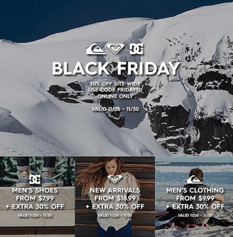 Quiksilver Cyber Monday 2015 Ad - Page 1