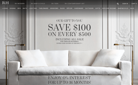 Restoration Hardware Black Friday 2015 Flyer - Page 1