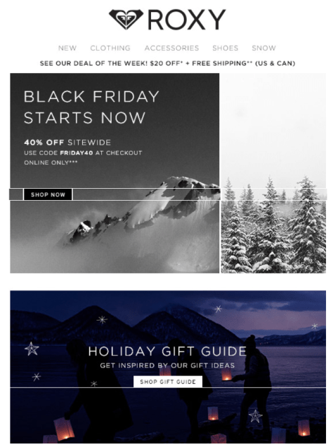 Roxy Black Friday Ad - Page 1