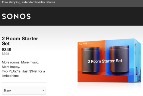 Sonos Cyber Monday 2015 Ad - Page 1