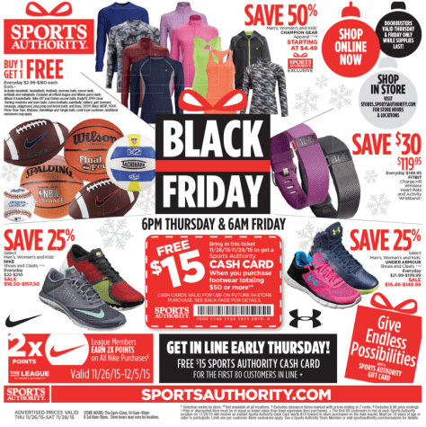 Sports Authority Black Friday 2015 Ad - Page 1