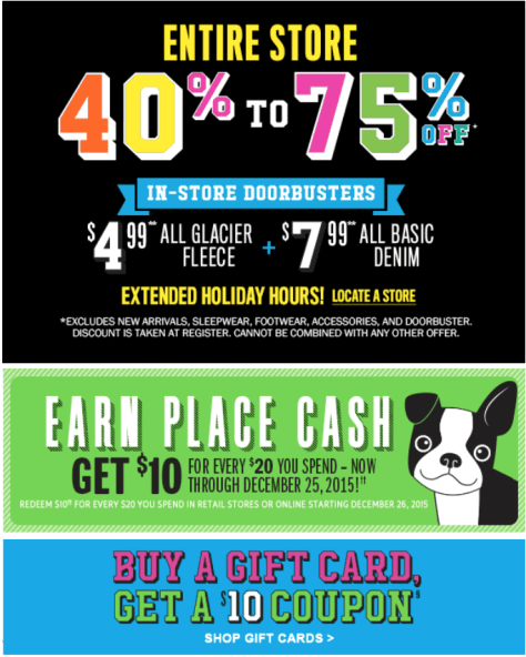 The Childrens Place Cyber Monday 2015 Ad - Page 2