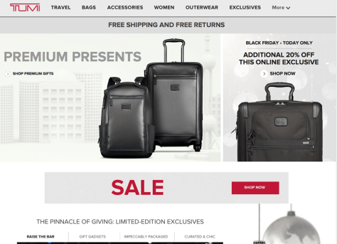 Tumi Black Friday 2015 Ad - Page 1