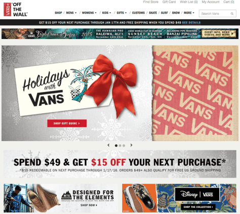 Vans Black Friday 2015 Flyer - Page 1