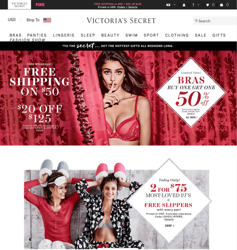 Victorias Secret Cyber Monday 2015 Ad - Page 1