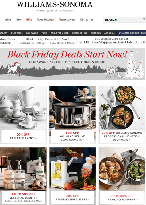 Williams Sonoma Black Friday 2015 Flyer - Page 1