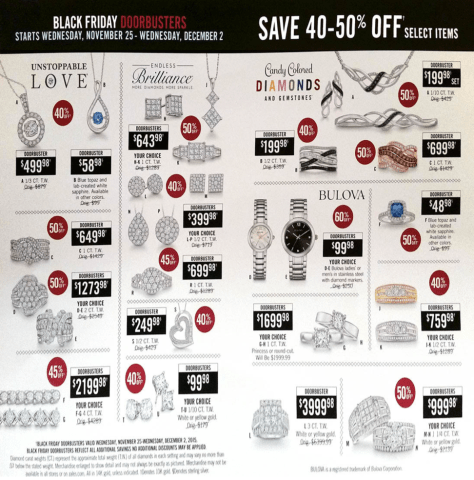 Zales Black Friday 2015 Ad - Page 1