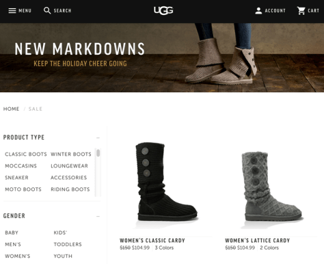 UGG After Christmas Sale 2015 - Page 1