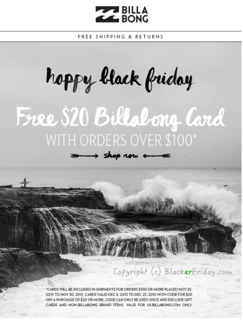 Billabong Black Friday Ad Scan - page 1