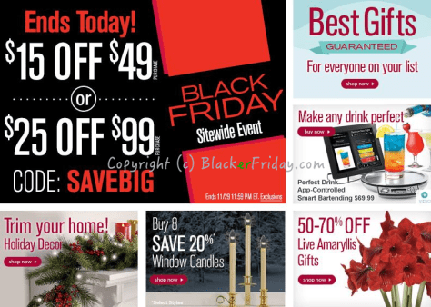Brookstone Black Friday Ad Scan - Page 1
