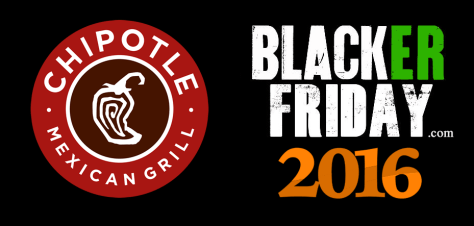 Chipotle Black Friday 2016