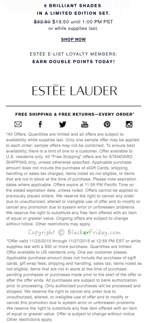 Estee Lauder Black Friday Ad Scan - Page 2