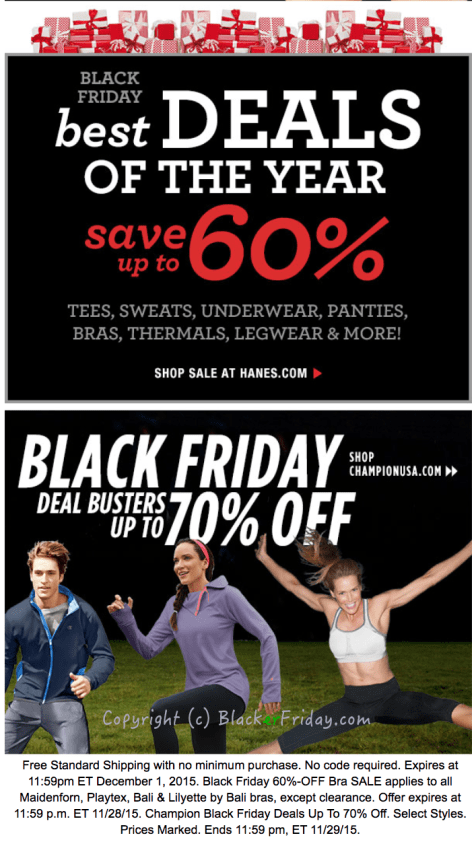 Hanes Black Friday Ad Scan - Page 2
