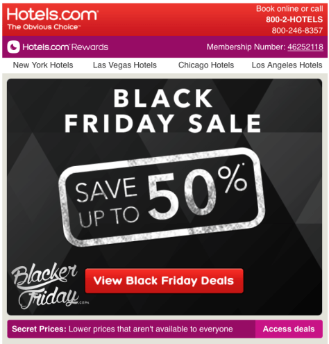 Hotels com Black Friday Sale - Page 1