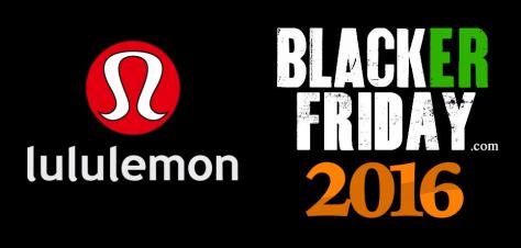 Lululemon Black Friday 2016