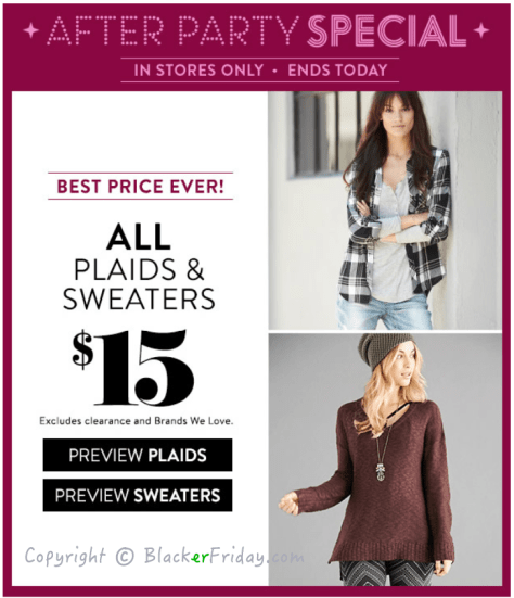 Charlotte Russe Cyber Monday Ad Scan - Page 4