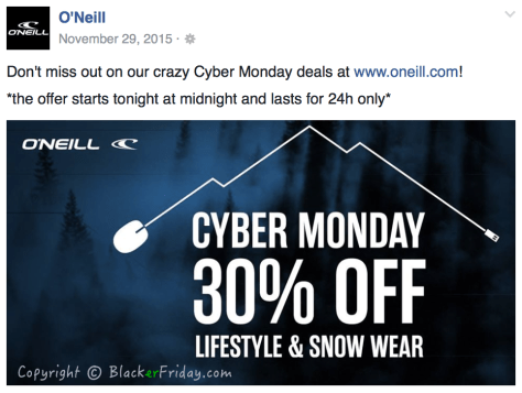 ONeill Cyber Monday Ad Scan - Page 1