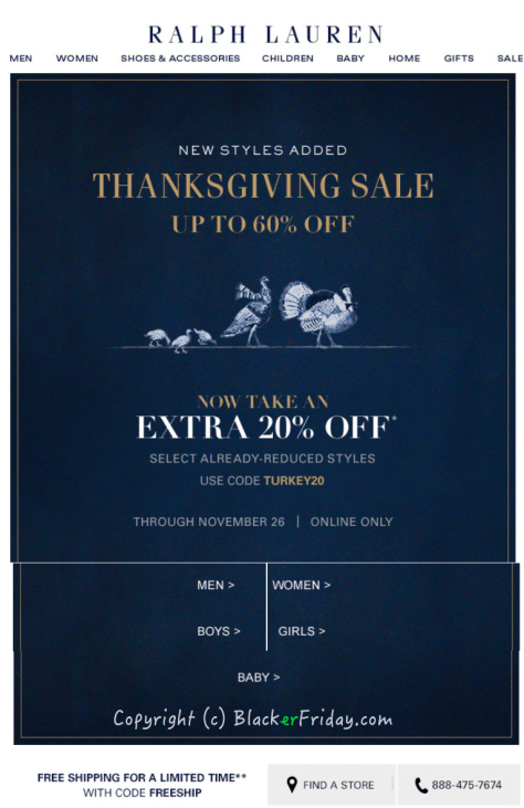 Ralph Lauren Black Friday Ad - Page 1