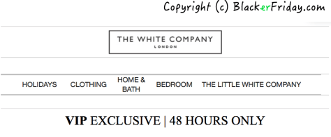 The White Company Black Friday Ad - Page 1