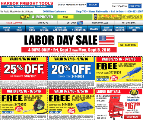 Harbor Freight Tools Labor Day 2016 Sale - Page 1